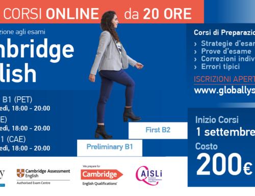 Nuovi corsi intensivi preparazione Cambridge English online